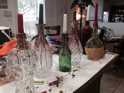 italian wine bottle centerpieces good for an italian