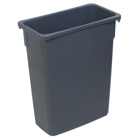 Small Trash Can Home Depot Carlisle Bronco 32 Gal Gray Trash Can 4 Pack