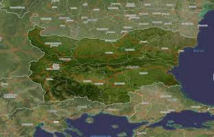 satellite map bulgaria satellite map bulgaria mappery