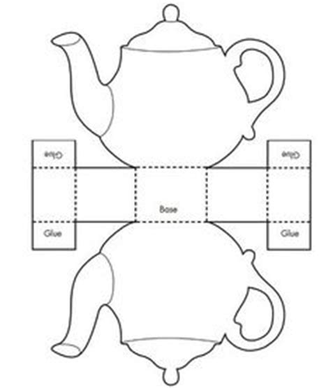 s day teapot card template and big cup make a teapot card free step by step and printable