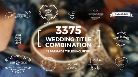 wedding title templates for after effects free elegant wedding title combination pack special events