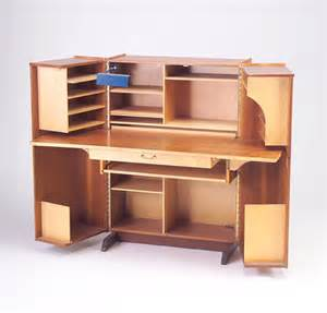 Desk Cabinet by Teak Veneer Cabinet Desk With Fold Out 634745