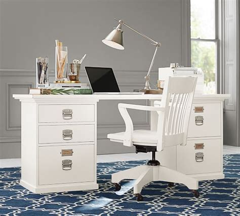pottery barn white desk bedford rectangular desk pottery barn
