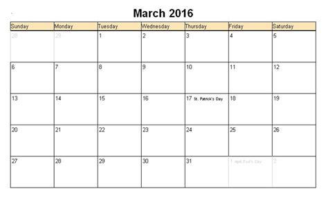 Easter Calendar 2016 March 2017 Calendar Easter Weekly Calendar Template