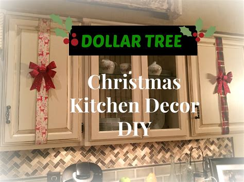 christmas decorations for kitchen cabinets dollar tree christmas kitchen cabinets decor diy plaid