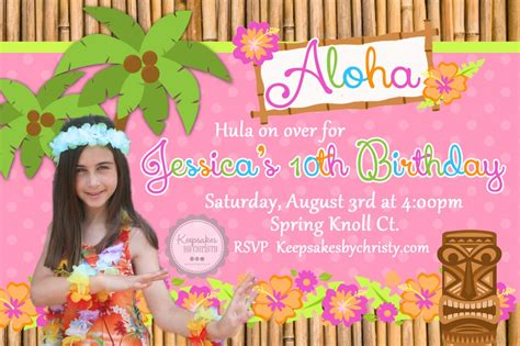 card template hawaian birthday jazlyn 20 luau birthday invitations designs birthday