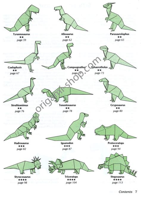 Origami Dinosaur Book - free coloring pages origami dinosaur 101 coloring pages