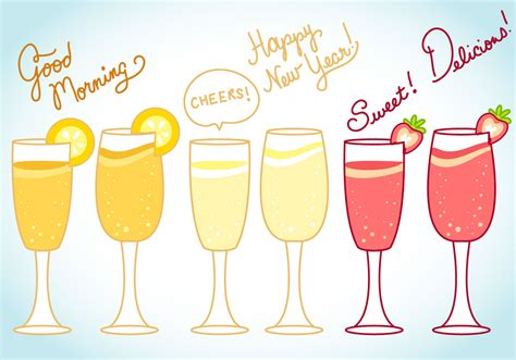 mimosa clipart mimosa and celebration vector and text free