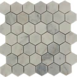 large hexagon tile backsplash home design ideas