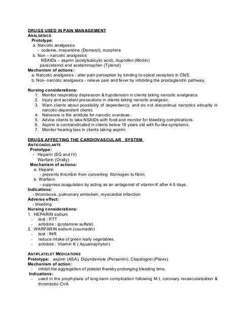 card template for tylenol 48078289 pharmacology review for nurses