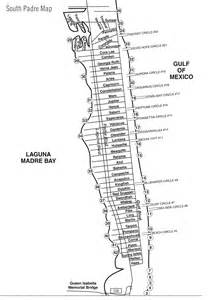 map of san padre island south padre island map south padre island