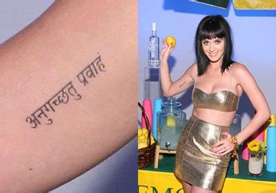 tattoo katy perry sanskrit katy perry s tattoos meanings steal her style