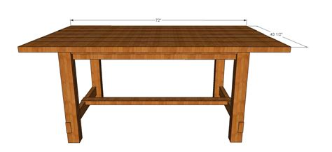 Plans For Dining Room Table by Dinner Table Plans Pdf Woodworking