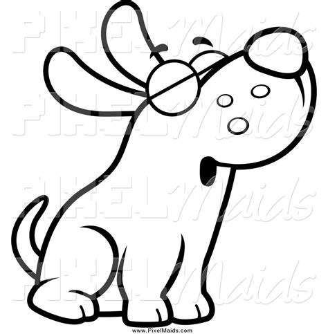 puppy clipart black and white clip black and white clipart panda free clipart images