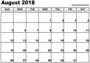 Kalender August 2018 August 2018 Calendar
