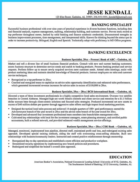 exle of resume for in bank 100 images great thesis statements