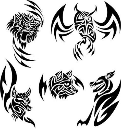 tribal animal tattoo