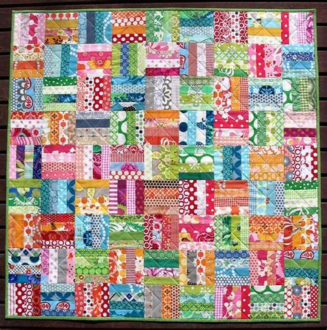 Scrap Quilts by Easy Scrap Quilt Idea Great For A Baby Blanket Quilts Quilt Scraps Quilt And