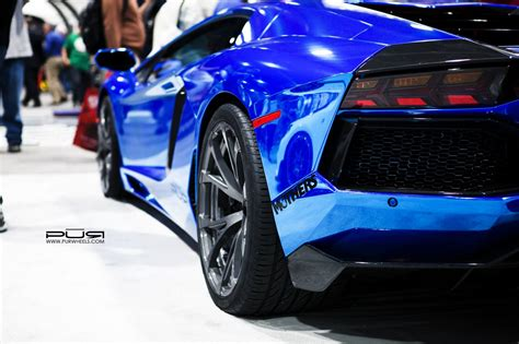 blue chrome lamborghini sema 2013 chrome blue lamborghini aventador on pur wheels
