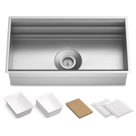 kohler 5540 na prolific undermount single basin kitchen sink kohler k 5540 na stainless steel prolific 33 quot single basin
