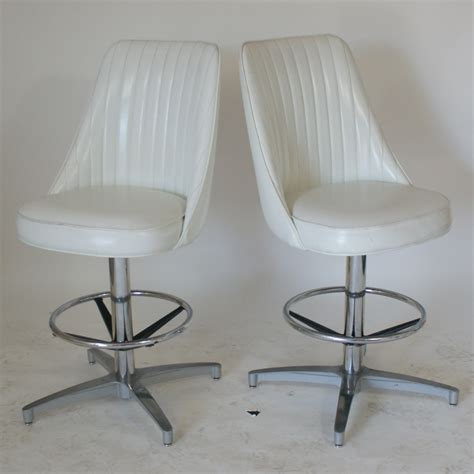 2 vintage bar counter stools high back ebay