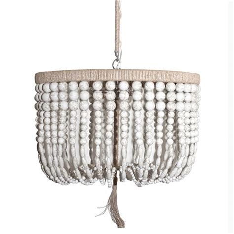 pottery barn wood bead chandelier white wood bead chandelier look 4 less and steals and deals