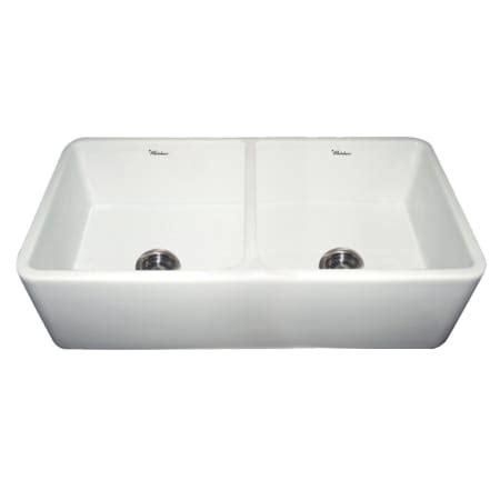 whitehaus reversible fireclay sink whitehaus wh3719 white white duet reversible undermount