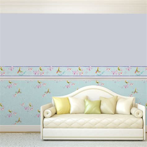 bedroom borders official disney fairies tink wallpaper and borders