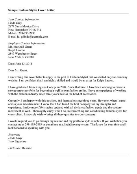 sle fashion cover letter 9 best images about career on letter sle