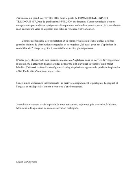 Lettre De Motivation De Base modele lettre de motivation h m document