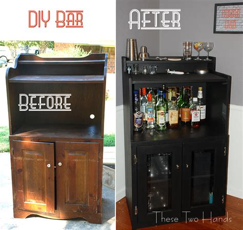 bar cabinet with mini fridge diy bar these two hands