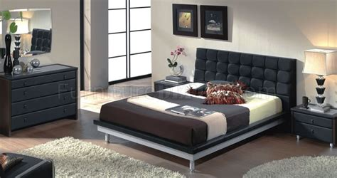 bedroom furniture toledo ohio 603 toledo black leather upholstered bed with metal legs
