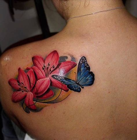 butterfly lily tattoo designs 43 with butterfly tattoos ideas