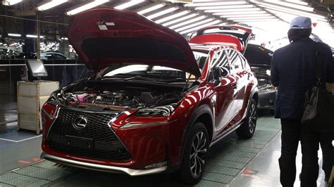 lexus japan lexus starts nx production in japan revives kanda factory