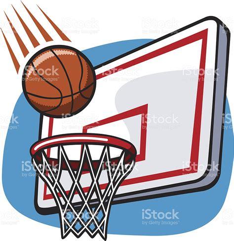basketball clipart dessin de panier de basket stock vecteur libres de droits