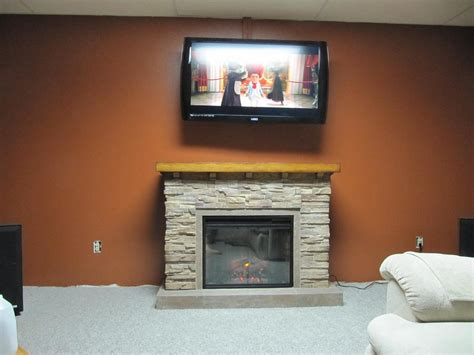 Stacked Electric Fireplace by Electric Fireplace Mantel Package Gallery
