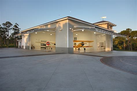 Florida Style Home Plans by Residential Airplane Hanger Florida Vernacular Style