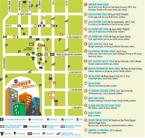 san jose jazz festival map jazz summer returns to san jose sanjose