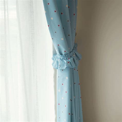 baby blue polka dot curtains quality baby blue polka dot curtain blackout for kids