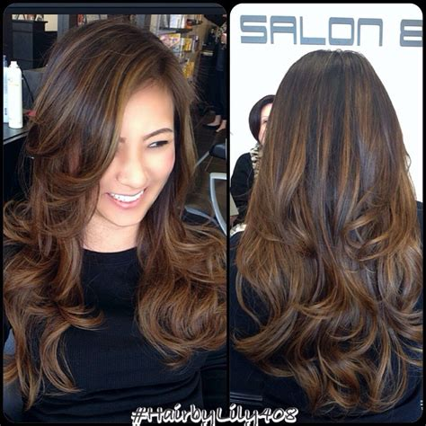 It s time to refresh with some highlights black hair with brown and caramel highlights