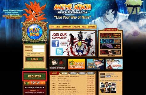 how to register anime ninja the best naruto online rpg