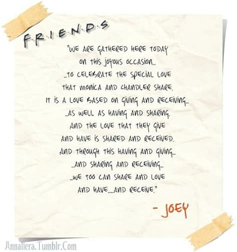 joey s wedding speech from friends if i ever get married