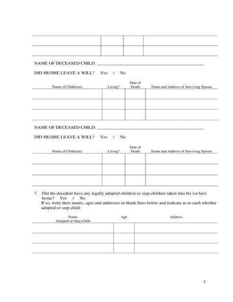 Affidavit Of Heirship Sle Template Free Download Affidavit Of Heirship Template