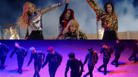 black pink dan exo exo black pink hit new mv milestones on youtube sbs