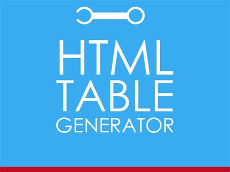 html for a table html table generator tool creates html code automatically