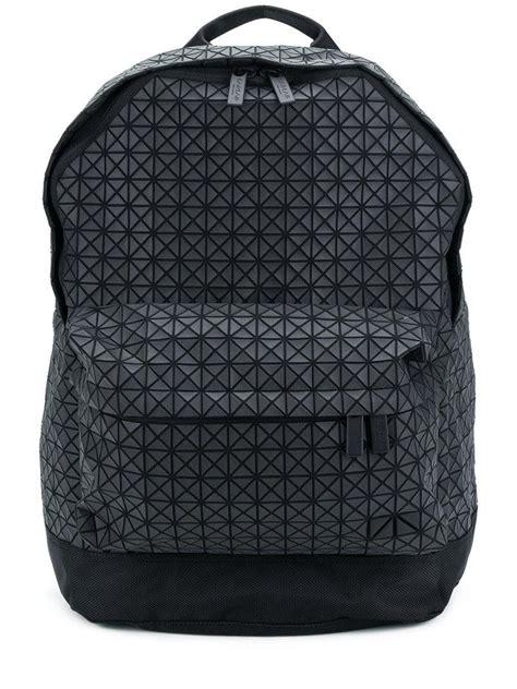black pattern backpack lyst bao bao issey miyake geometric pattern backpack in