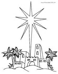 star over bethlehem coloring pages christian pinterest
