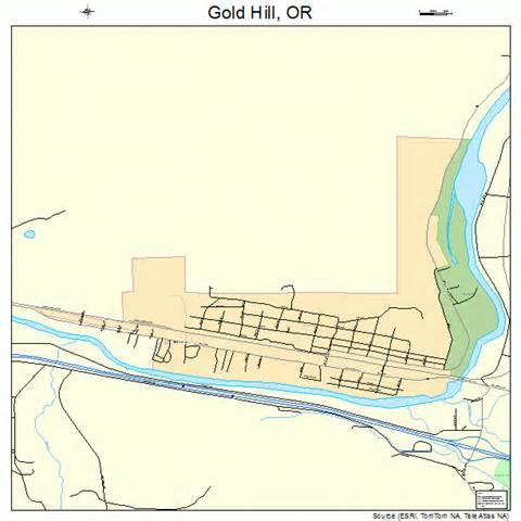 map gold oregon gold hill oregon map 4129950