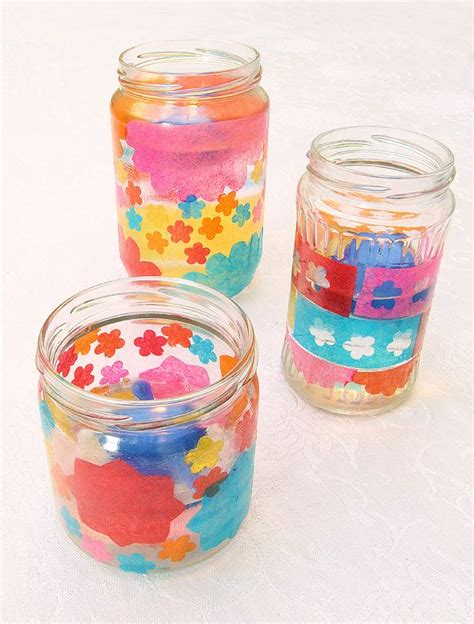 Decoupage Candle Jars - 25 unique tissue paper lanterns ideas on