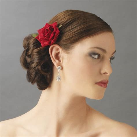 Wedding Hair With Roses by Velvet Hair Clip For Bridal Wedding Day